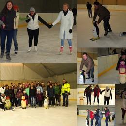 Céges korcsolyázás